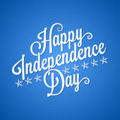 Independence day vintage lettering background — Stock Vector