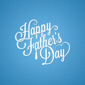Fathers day vintage lettering background — Vector de stock