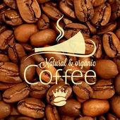 Kawa filiżanki fasoli wzór tła — Wektor stockowy