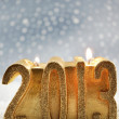 Year 2013 candle — Stock Photo