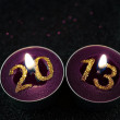 Year 2013 candle - Stock Photo