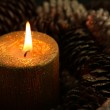 Golden Candle — Stock Photo #22431241