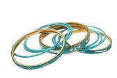 Blue bracelets — Stock Photo