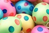 Easter Eggs with dots — Stock Photo