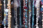 Necklaces with pearls and beads — Stock Photo