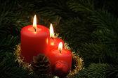 A lume di candela. — Foto Stock