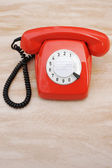 Old Plastic Telephone — Stock Photo