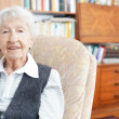 90 year old lady at home — Stock Photo