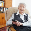 90 year old senior woman at home — Foto Stock