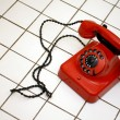 Old telephone with rotary dial — Stock Photo