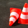 Entrance barrier cone — Stock Photo