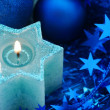 Holiday star candle — Stock Photo