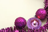Pink Christmas balls — Стоковое фото