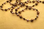 Gold necklace — Стоковое фото