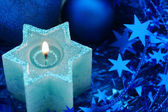 Holiday star candle — Stok fotoğraf