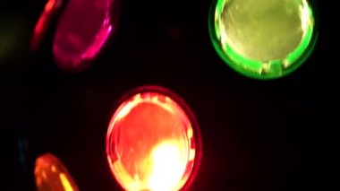 Close up of spinning disco light ball — Stock Video