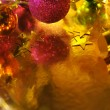 Holiday Christmas background with gold paper — Stock Photo