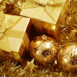 Holiday gifts and decoration — Foto de Stock