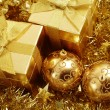 Holiday gifts and decoration — Stockfoto