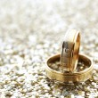 Gold wedding rings — Foto Stock