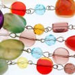 colorful beads necklace — Stock Photo