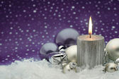 Advent holiday candle — Stock Photo