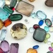 Stock Video: Shaking Gemstones