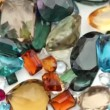 Stock Video: Old used Gemstones
