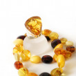 Amber Ring, necklace — Foto Stock