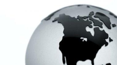 Glass globe — Stock Video