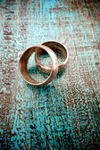 Old used wedding rings — Stock Photo