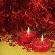 Cute red glitter candle — Stock Photo #48852215