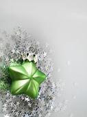 Zelený vánoční hvězda — Stock fotografie