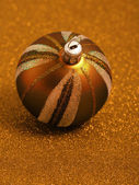 Brown Holiday bauble — Stock Photo