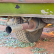 Pipe exhaust old car — Stockfoto
