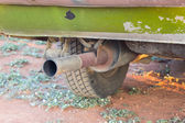 Pipe exhaust old car — Stock Photo