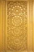 Door woodcarving in temple, Thailand — Stock Photo