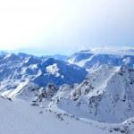 Alpine skiing — Stock Photo
