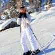 Stock Photo: Girl Alpine skiing
