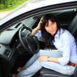 Stock Photo: Fashion girl in car