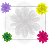Flowers frame — Stock Vector