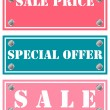 Stock Vector: Special offer and sale price stickers, tags