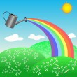 Royalty-Free Stock Vector Image: Rainbow from a watering can