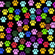 Dog Paws, Trails, Paw-prints - Red Blue Green — Stock Photo #23106756