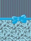 Ribbon, Bow, Damask, Swirls, Stripes - Black Blue — Stock Photo