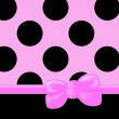 Постер, плакат: Ribbon Bow Polka Dots Spots Dotted Pattern Pink Black