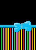 Ribbon, Bow, Stripes - Blue Yellow Green Red — Stock Photo