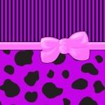 Ribbon, Bow, Cow Print, Stripes - Purple Black Pink — Stock Photo #24200429
