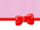 Cute Trendy Chic Gingham Pattern Pink White Red — 图库照片