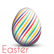 Easter egg painted with color lines — Stock Vector #22587801